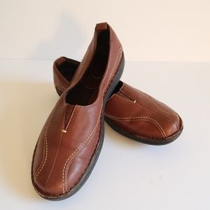 Clarks Brown Leather Slip On Driving Oxfords 8
